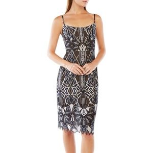 BcbgMaxAzria geometric lace dress
